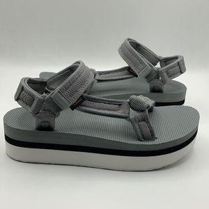 Teva Flatform Universal Mesh Bright White Sandals